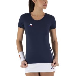 Camisetas y Polos de Tenis Mujer Le Coq Sportif Match Camiseta  Dress Blues 2020715