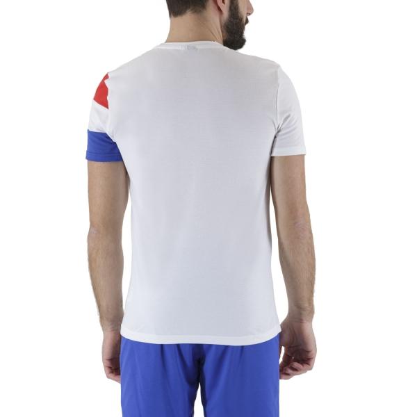 Le Coq Sportif Match T-Shirt - New Optical White/Cobalt