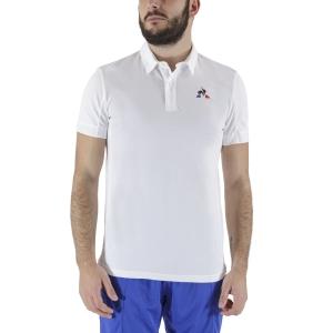 Men's Tennis Polo Le Coq Sportif Match Polo  New Optical White 1921778