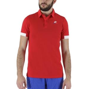 Men's Tennis Polo Le Coq Sportif Match Polo  Pur Rouge 2021035