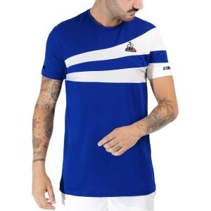 Men's Tennis Shirts Le Coq Sportif Pro TShirt  Bleu Electro 2120779