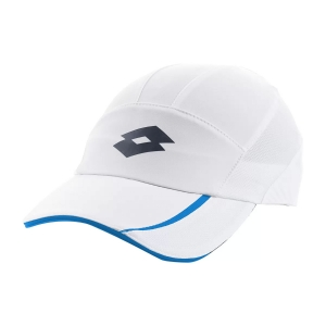 Tennis Hats and Visors Lotto Ace III Cap Woman  Bright White/Scuba Blue 2 L546720H9