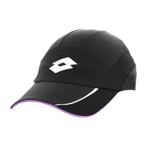 Gorras de Tenis Lotto Logo Gorra  All Black/Bellflower L546717NQ