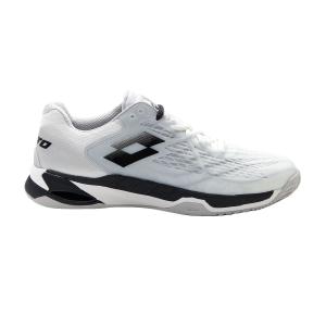 Scarpe Tennis Uomo Lotto Mirage 100 Clay  All White/All Black/Silver Metal 2 2107311EM