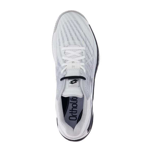 Lotto Mirage 100 Clay - All White/All Black/Silver Metal 2
