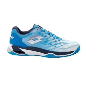Men`s Tennis Shoes Lotto Mirage 100 Clay  All White/Navy Blue/Blue Bay 2107317FG