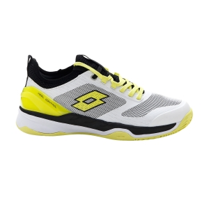Men`s Tennis Shoes Lotto Mirage 200 Clay  All White/Yellow Neon/All Black 2136267FR
