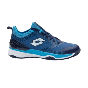 Men`s Tennis Shoes Lotto Mirage 200 Clay  Navy Blue/All White/Blue Bay 2136267FQ