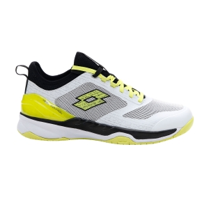 Men`s Tennis Shoes Lotto Mirage 200 Speed  All White/Yellow Neon/All Black 2136277FR