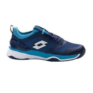 Men`s Tennis Shoes Lotto Mirage 200 Speed  Navy Blue/All White/Blue Bay 2136277FQ