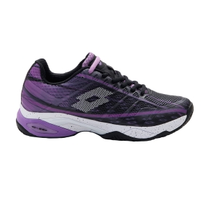 Women`s Tennis Shoes Lotto Mirage 300 Clay  All Black/All White/Bellflower 2107407FI