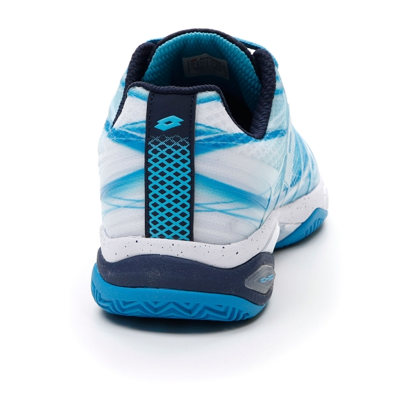 Lotto Mirage 300 Clay - Blue Bay/All White/Navy Blue