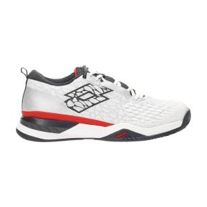 Scarpe Tennis Uomo Lotto Raptor Hyperpulse 100 SPD  All White/All Black/Flame Red 2156236SO