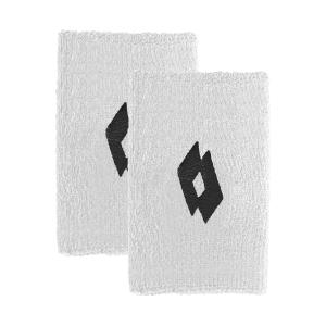 Tennis Wristbands Lotto Skg II Big Wristbands  Bright White/All Black 2171061CY