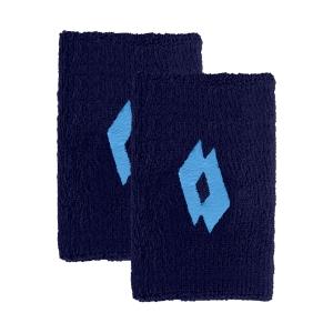 Tennis Wristbands Lotto Skg II Big Wristbands  Navy Blue/Blue Bay 2171067H9