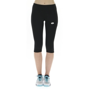 Women's Tennis Pants and Tights Lotto Squadra Short Tights  All Black 2131111CL