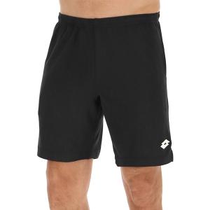 Men's Tennis Shorts Lotto Squadra II 9in Shorts  All Black 2154561CL