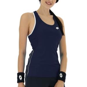 Top de Tenis Mujer Lotto Squadra II Top  Navy Blue 2154331CI