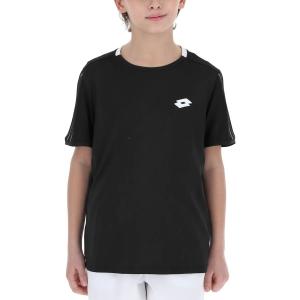 Women`s Tennis T-Shirts and Polos Lotto Squadra II TShirt Boys  All Black 2154621CL