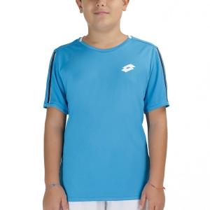Tennis Polo and Shirts Lotto Squadra II TShirt Boys  Blue Bay 2154627F3