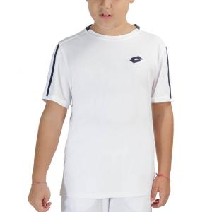 Men's Tennis Shirts Lotto Squadra II TShirt Boys  Bright White 2154620F1