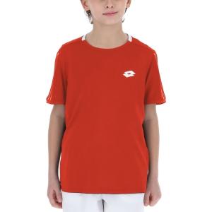 Polo e Maglie Tennis Lotto Squadra II Maglietta Bambino  Cliff Red 21546229P