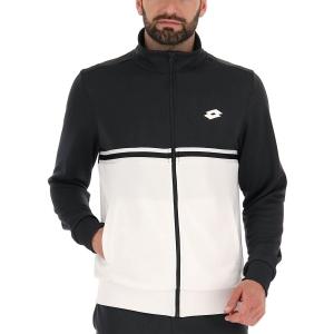 Men's Tennis Jackets Lotto Squadra II Sweat Jacket  Bright White/All Black 2154571CY