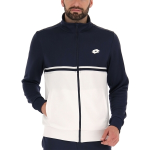 Men's Tennis Jackets Lotto Squadra II Sweat Jacket  Bright White/Navy Blue 2154571Q5