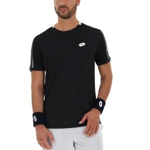 Men's Tennis Shirts Lotto Squadra II TShirt  All Black 2154531CL
