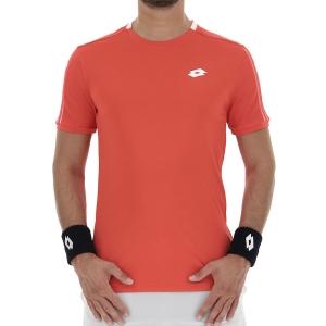 Men's Tennis Shirts Lotto Squadra II TShirt  Cliff Red 21545329P