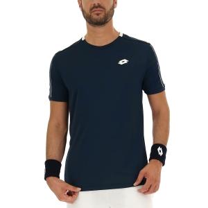 Men's Tennis Shirts Lotto Squadra II TShirt  Navy Blue 2154531CI