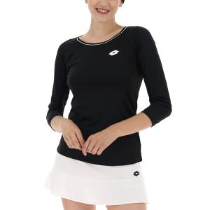Maglie e Felpe Tennis Donna Lotto Squadra Maglia  All Black 2112531CL
