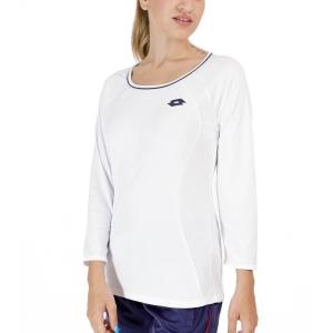 Women's Tennis Shirts and Hoodies Lotto Squadra Shirt  Bright White 2112530F1