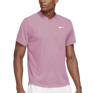 Polo Tennis Uomo Nike Blade Polo  Elemental Pink/White CW6288698