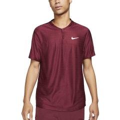 Nike Breathe Advantage Polo - Dark Beertroot/White