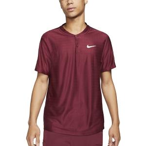 Men's Tennis Polo Nike Breathe Advantage Polo  Dark Beertroot/White CV2499638