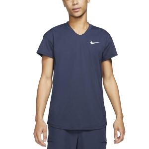 Men's Tennis Shirts Nike Breathe Slam TShirt  Obsidian/White CV2814451