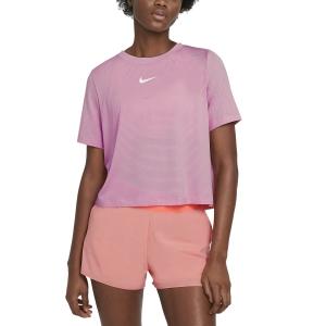Magliette e Polo Tennis Donna Nike Court Advance Maglietta  Elemental Pink/White CV4811698