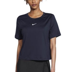 Magliette e Polo Tennis Donna Nike Court Advance Maglietta  Obsidian/White CV4811451