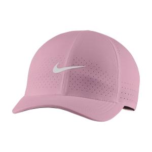 Gorras de Tenis Nike Court Advantage Gorra  Elemental Pink/White CQ9332698