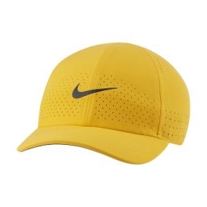 Tennis Hats and Visors Nike Court Advantage Cap  University Gold/Black CQ9332739