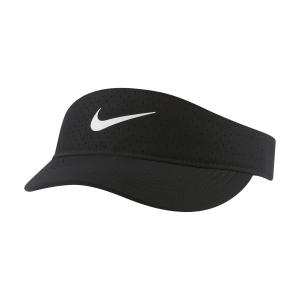Cappelli e Visiere Tennis Nike Court Advantage Visiera  Black/White CQ9334010