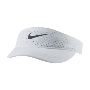 Cappelli e Visiere Tennis Nike Court Advantage Visiera  White/Black CQ9334100