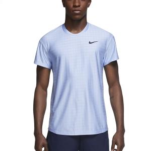 Maglietta Tennis Uomo Nike Court Breathe Advantage Maglietta  Aluminum/Black CV5032468