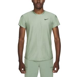 Maglietta Tennis Uomo Nike Court Breathe Advantage Maglietta  Jade Smoke/Black CV5032357