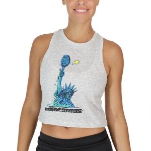 Top de Tenis Mujer Nike Court DriFIT NYC Liberty Top  Grey Heather DJ2589050