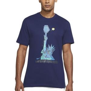 Maglietta Tennis Uomo Nike Court DriFIT NYC Liberty Maglietta  Binary Blue DJ2783429