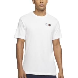 Maglietta Tennis Uomo Nike Court DriFIT NYC Postcard Maglietta  White DJ2596100