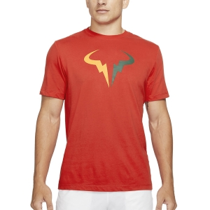 Maglietta Tennis Uomo Nike Court DriFIT Rafa Maglietta  Chile Red/Gorge Green/Laser Orange DJ2582673