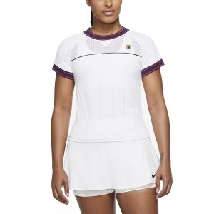 Camisetas y Polos de Tenis Mujer Nike Court DriFIT Slam Camiseta  White DC9462100